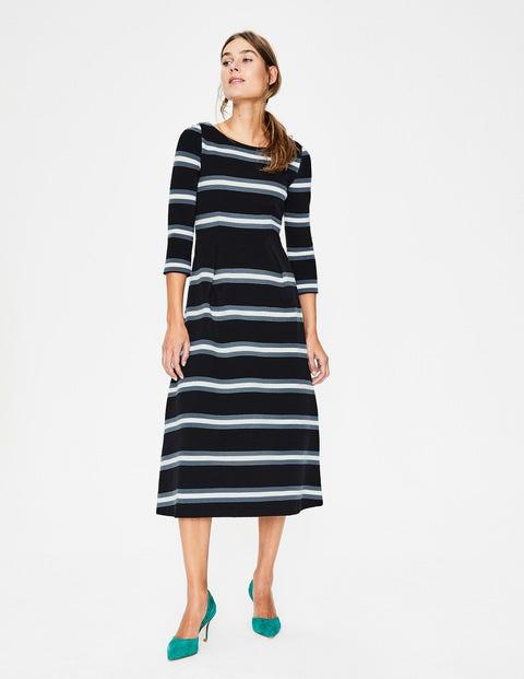 6cc488608 Alma Ottoman Midi Dress - Black/Ivory   Boden US