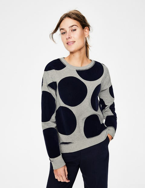 Arabella Sweatshirt - Große Flocktupfen