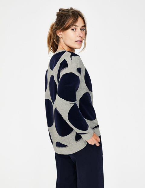 6c668637987 Arabella Sweatshirt - Large Flock Spot | Boden UK