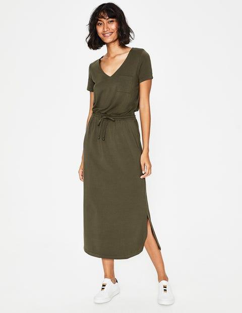 Lola Jersey Midi Dress - Classic Khaki