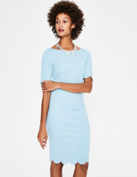 Emma Ponte Dress - Heron Blue