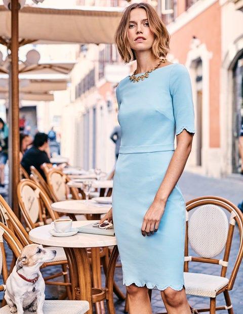 Emma Ponte Dress - Heron Blue