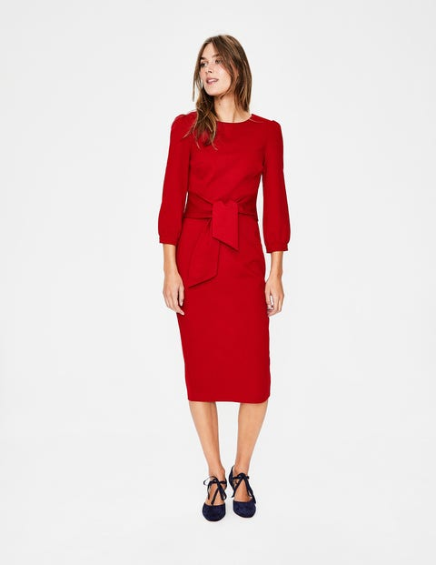 Josephine Ponte Dress - Poinsettia
