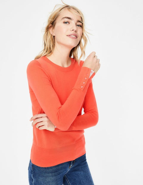 Tilda Crew Neck Sweater - Bright Watermelon