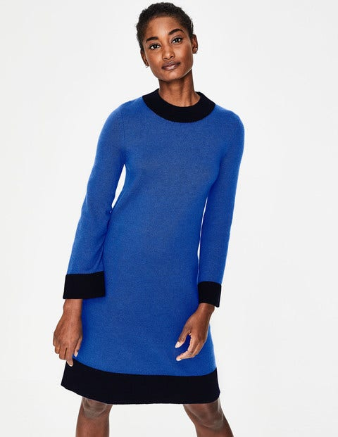 Mara Knitted Dress - Cobalt/Navy