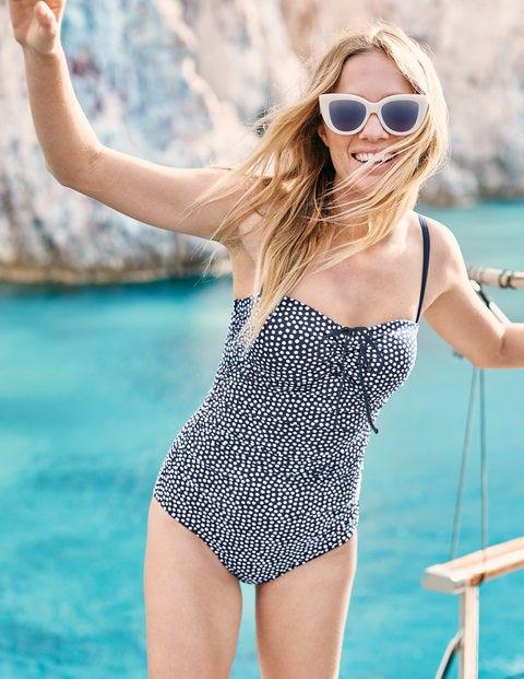 Sardinia Swimsuit - Navy/Ivory Spot