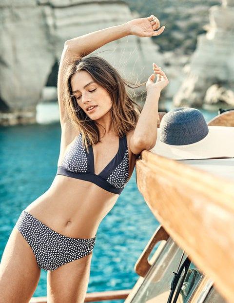 Formentera Bikini Top - Ink/Ivory Spot