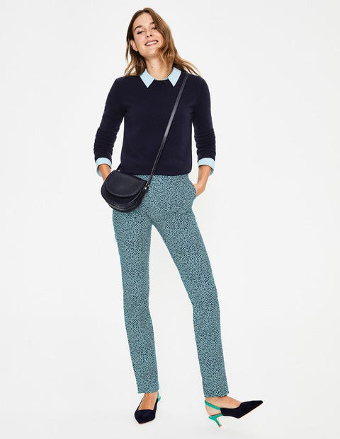 Richmond Trousers - Heron Blue, Cluster Spot