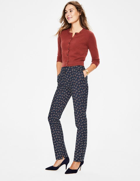 Richmond Trousers - Navy and Maroon, Arc