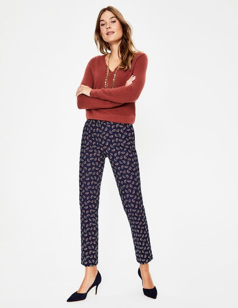 Richmond 7/8 Trousers - Navy and Maroon, Arc