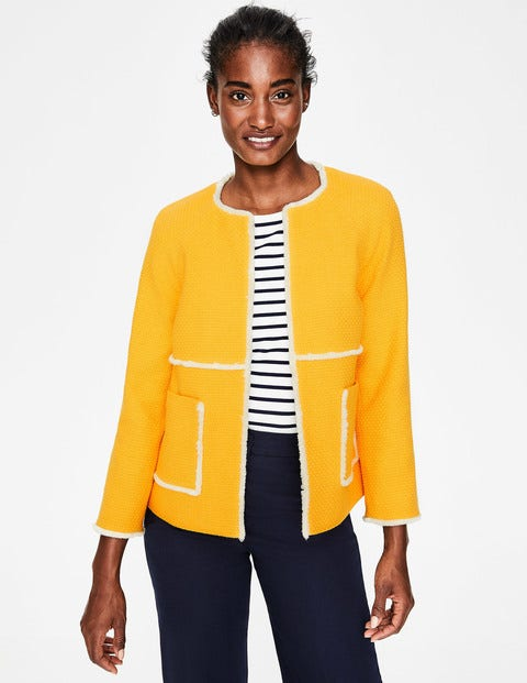 Ida Textured Jacket - Happy