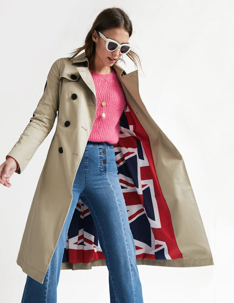 Whitstable Trench Coat - Soft Stone