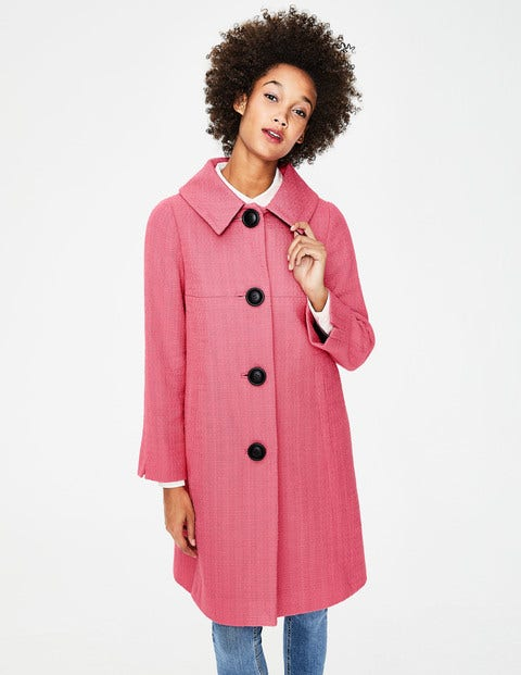 Vintage Coats & Jackets | Retro Coats and Jackets Vintage Swing Coat Pink Women Boden Pink £79.20 AT vintagedancer.com