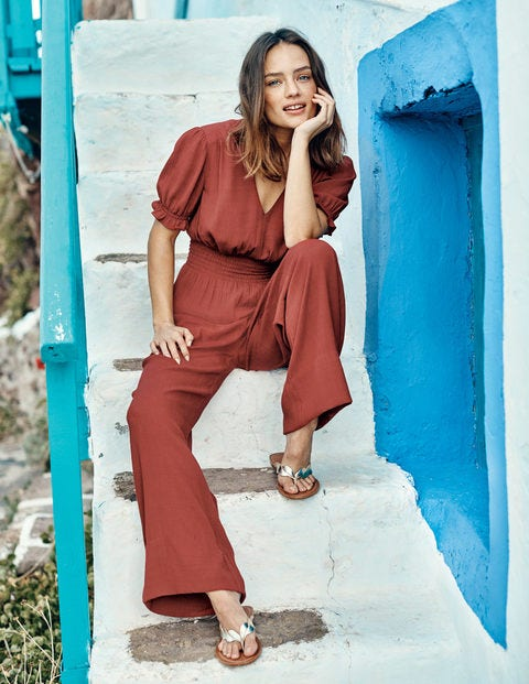 Jasmine Jumpsuit - Red
