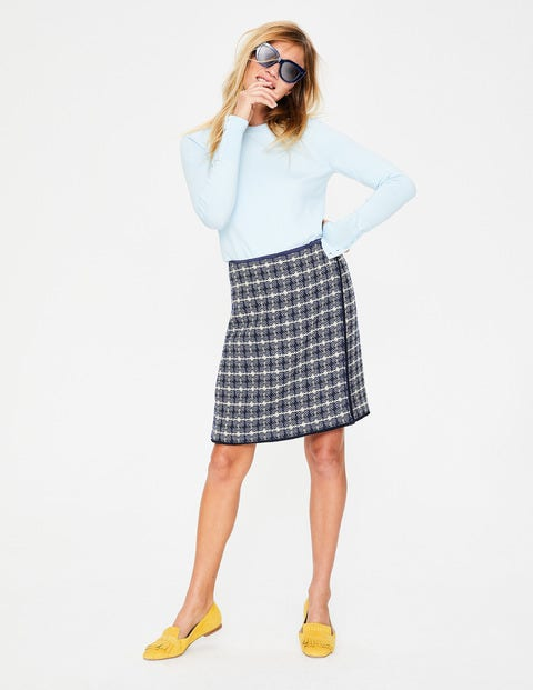 Tallulah Wrap Skirt - Navy Textured