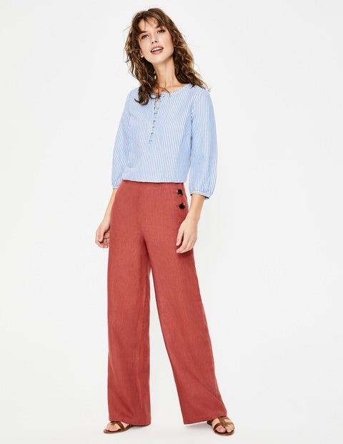 Pantalon Penzance En Lin - Rouge