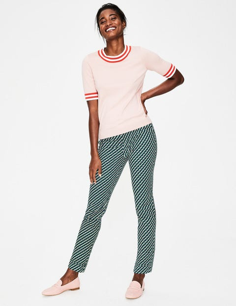 Kensington Turn-up Trousers - Forest, Graphic Geo