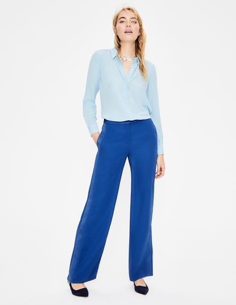 boden - Exeter Hose mit weitem Bein Blue Damen , Blue