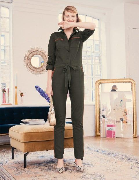 Jessie Jumpsuit   Classic Khaki by Boden