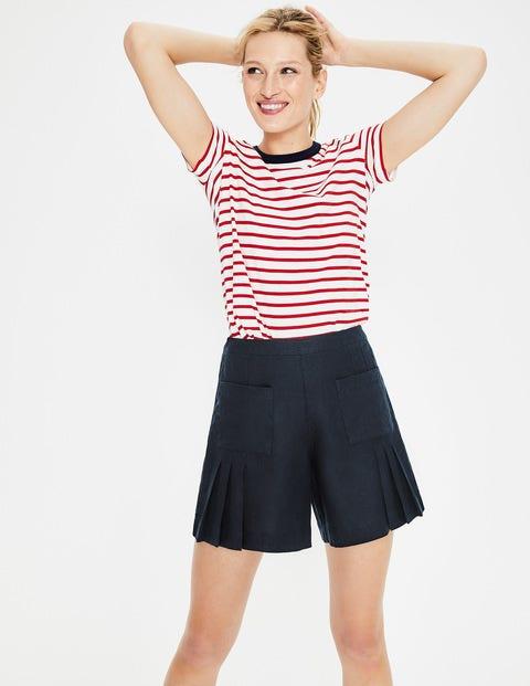 Zoe Linen Shorts - Navy