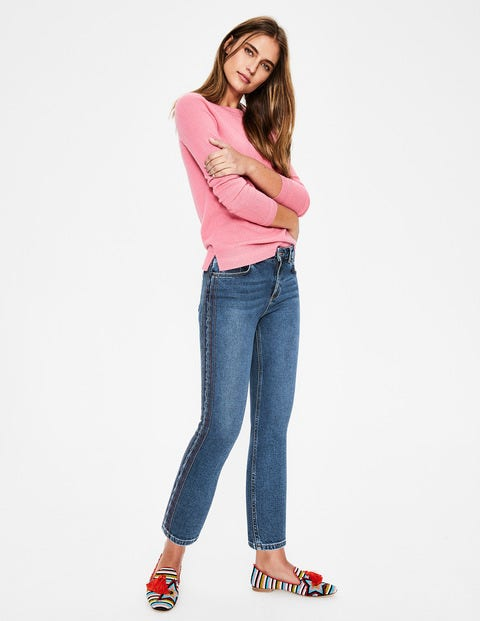 Cambridge Embroidered Jeans - Rainbow Stitch