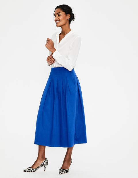 Theodora Pleated Skirt   Cobalt by Boden