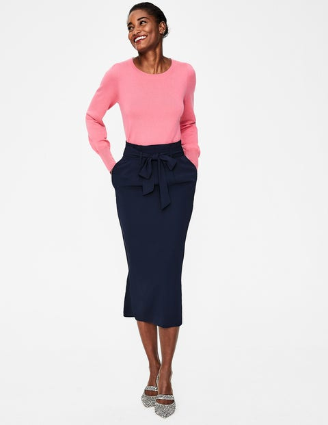 Melina Paperbag Skirt - Navy