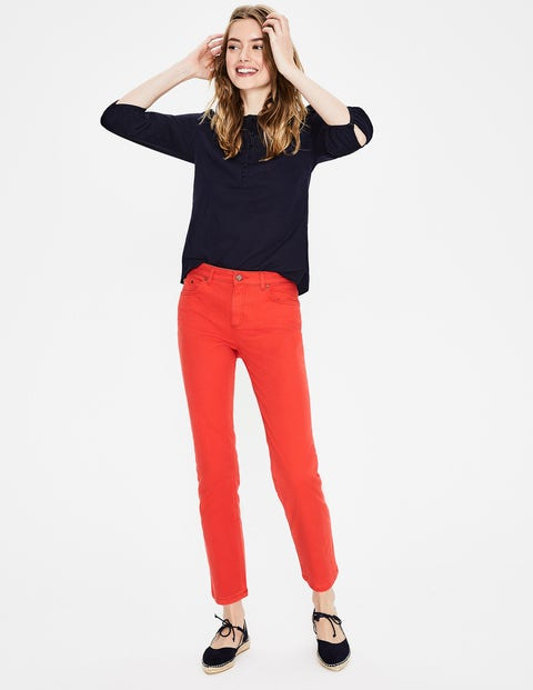 Cambridge Ankle Skimmer Jeans - Red Pop