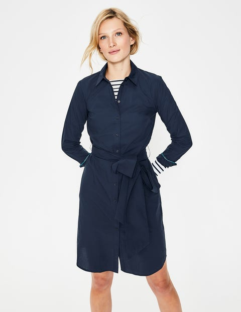 Modern Shirt Dress - Navy