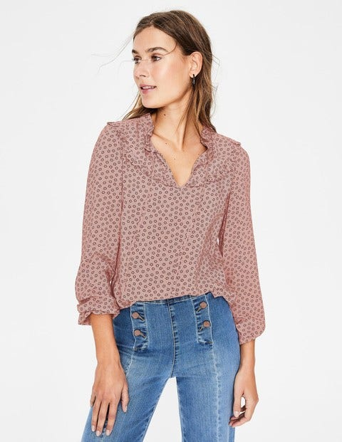 Betsy Top - Chalky Pink Spotty Buttercup