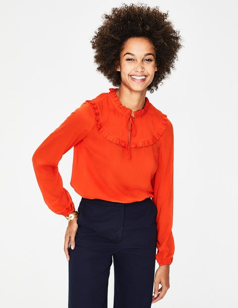 Betsy Top - Red Pop