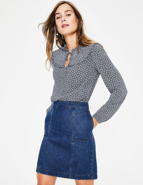 Betsy Top - Navy Spotty Buttercup