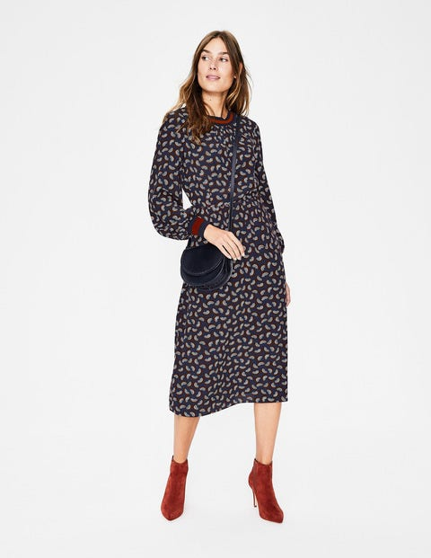 Roberta Rib Detail Dress W0299 Day Dresses At Boden
