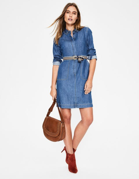 Hattie Denim Dress - Mid Vintage