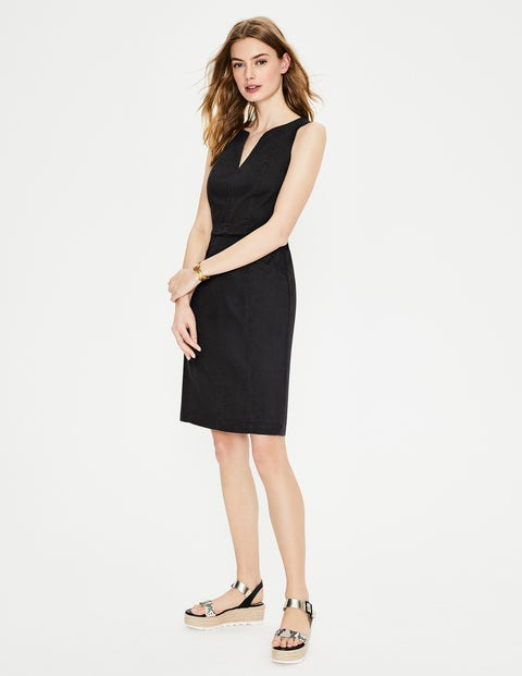 Helena Chino Dress - Black