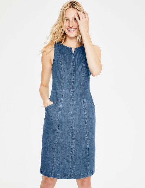 Helena Chino Dress - Denim
