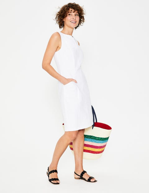 Helena Chino Dress - White
