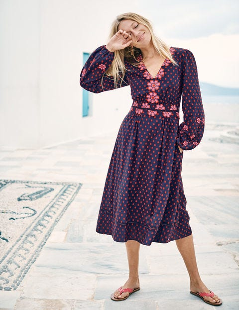 b1c734ec4a03 Flossie Embroidered Midi Dress