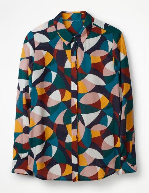 Silk Shirt W0323 Long Sleeved Tops At Boden