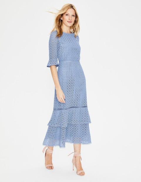 Lana Lace Midi Dress Hazy Blue
