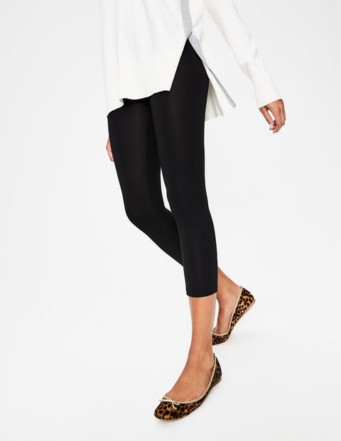 Cropped Leggings - Black
