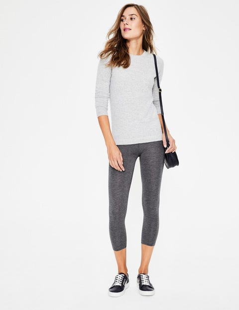 Cropped Leggings - Charcoal Marl