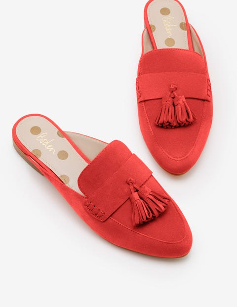 Katie Backless Loafers - Red Pop