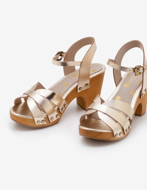 Harriet Clogs - Gold-Metallic
