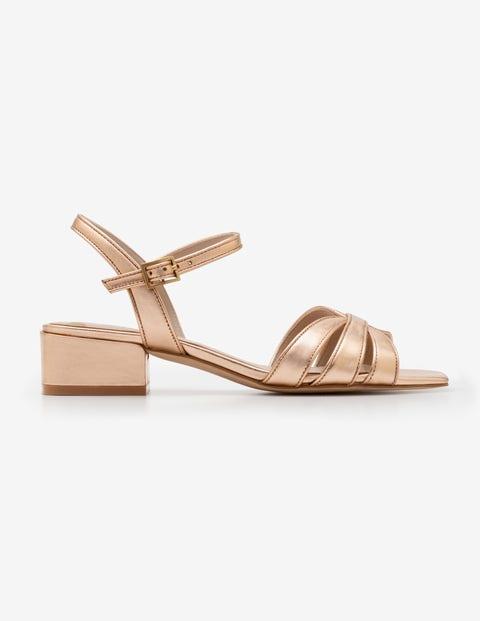 Nerissa Sandals Rose Gold Metallic Boden Uk
