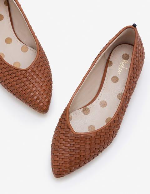 Hazel Woven Flats - Tan
