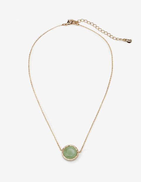Semi-Precious Necklace - Gold and Green Aventurine
