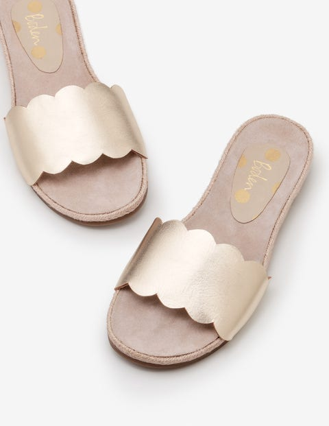 Emily Espadrille Slides - Gold Metallic