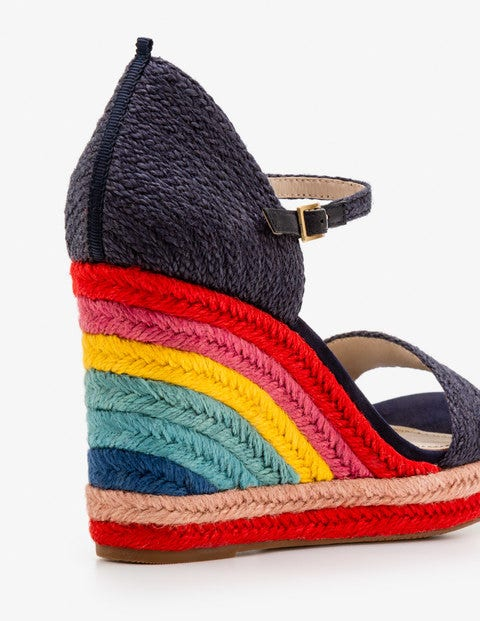2c605568176 Lily Espadrille Wedges - Navy