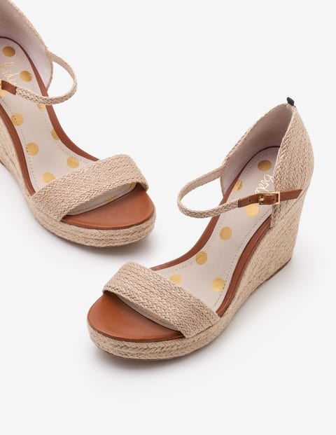Lily Espadrille Wedges - Natural